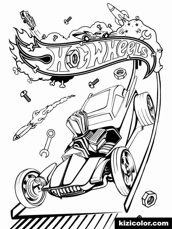 Hot Wheels Coloring Page Inspirational DÃ¿z Hot Wheels 17 Ausmalbilder Kostenlos Zum Ausdrucken In 2020 Hot Wheels Birthday Coloring Pages For Kids Coloring Pages