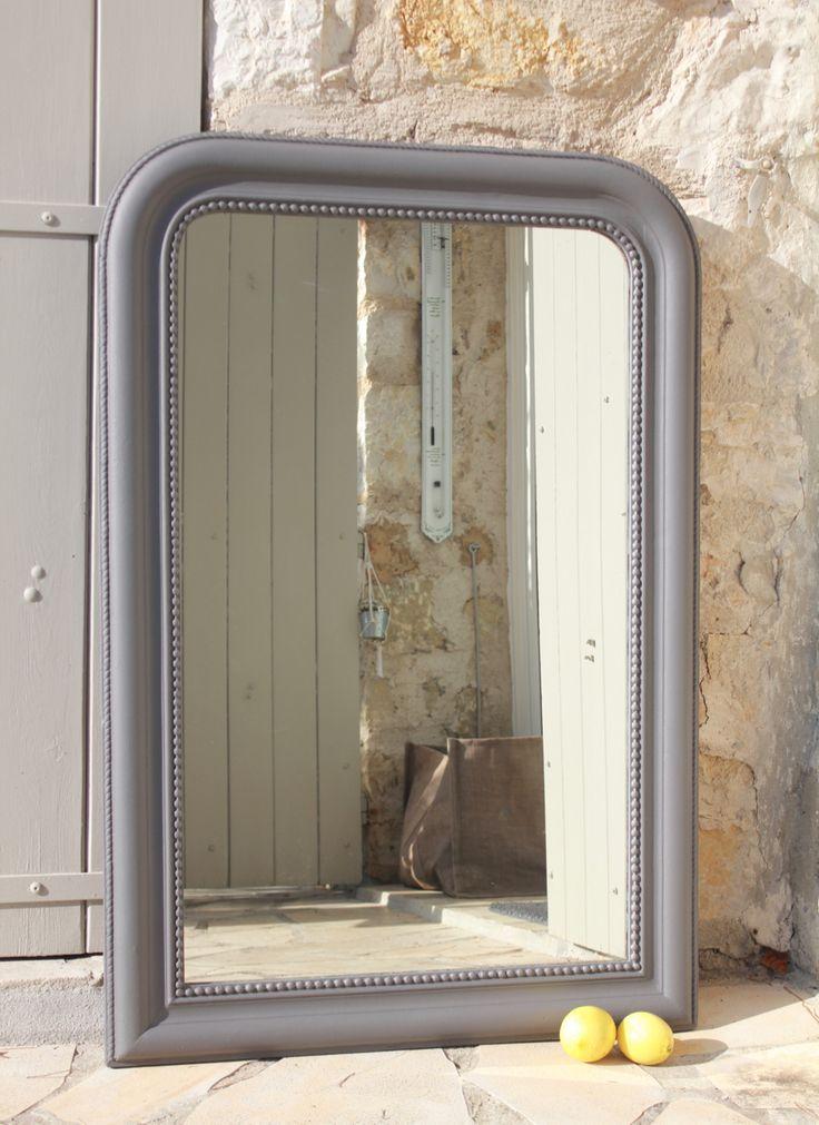 miroir Louis Philippe gris