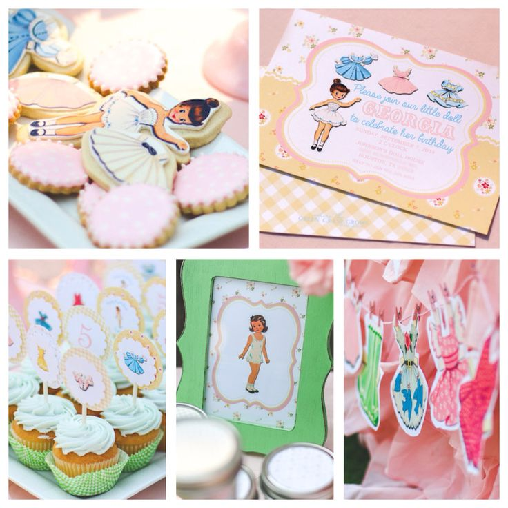 61 best Vintage Paper Doll Themed Party images on Pinterest