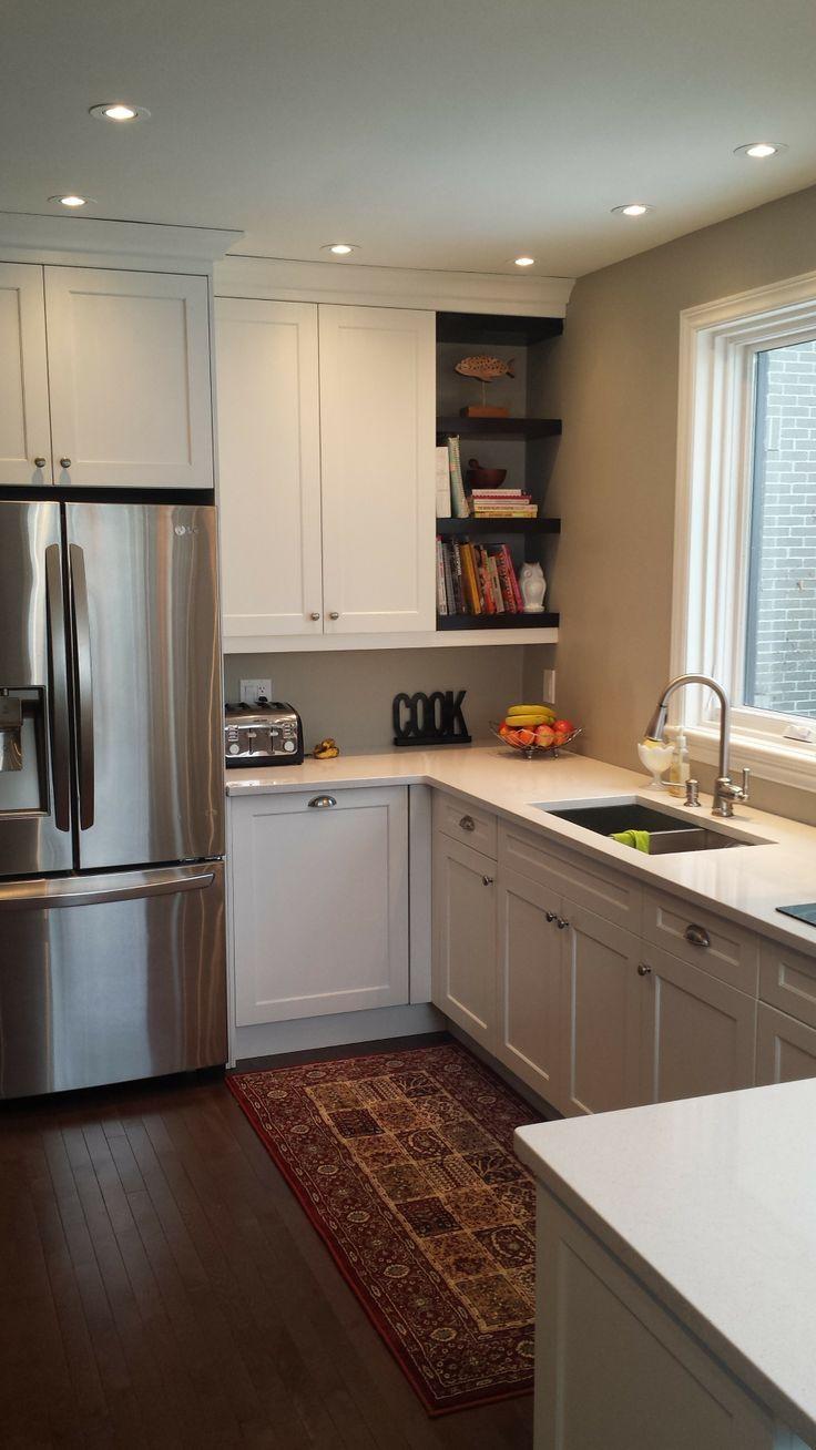 White Kitchen Floating Shelves