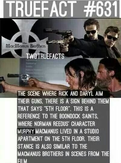 "If you have not seen ""The Boondocks Saints"" you need to! An awesome movie where Norman Reedus plays a young Irish vigilante. A great movie."