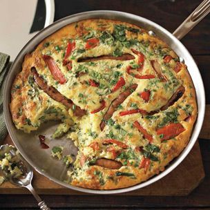 traditional English recipe, featuring sausages that are baked in a ...