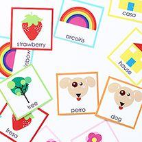 DIY: Bilingual Memory Card Game (Un memorama bilingüe) | Live Colorful