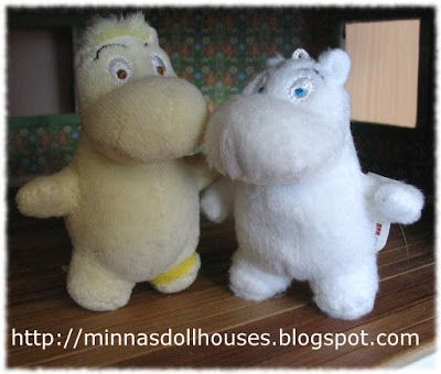 Minna's Miniatures: Moomin house inhabitants