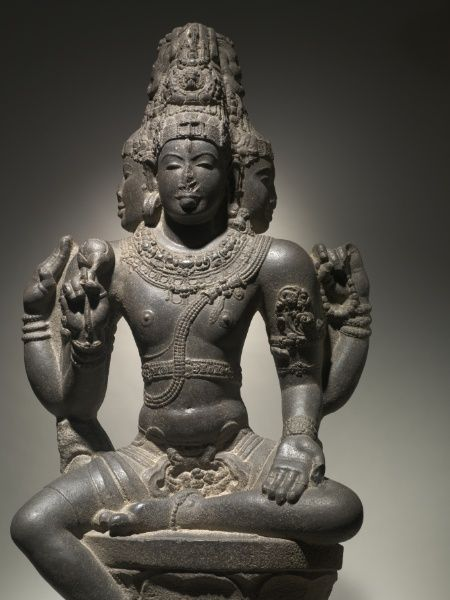 Shiva as Brahma | Cleveland Museum of Art/ late 900s or early 1000s/ South India, Chola dynasty, late 10th - early 11th century granite