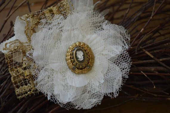 Vintage Lace Hair Accessory Wedding Hair by thiswayvintage on Etsy