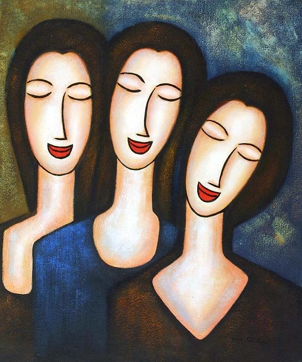 three sisters painting! mom has it and i want it too!