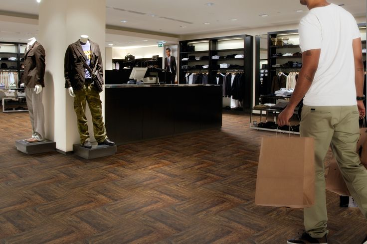 TOP TILE – a brand new flooring concept for public areas.  Make your own design from a photo or choose from our fancy collection.  Product: Top Tile Design: Antique Chestnut