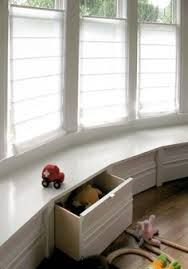 end of conservatory window seat with drawers - Google Search