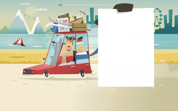 Some seasonal illustrations used as the backdrop to a quick loan company's promotional campaign.
