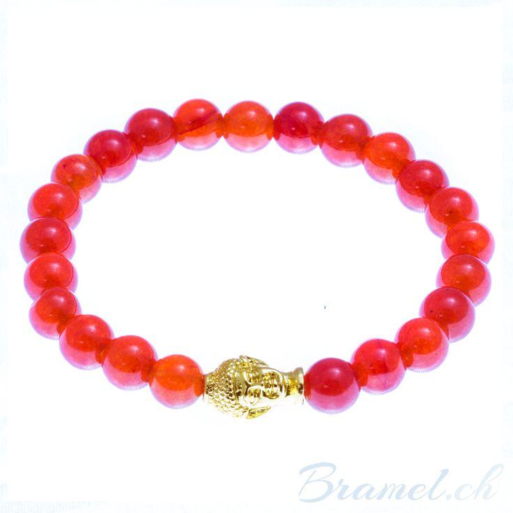 Buddha Armband in orange - http://bramel.ch/accessoires-shop/armband/buddha-armband-in-orange/ http://bramel.ch/wp-content/uploads/2014/09/buddha-armband-orange-600x600.jpg