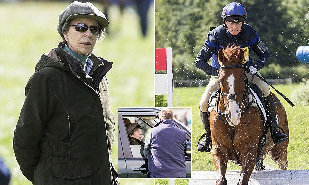 Princess Anne, 66, who has been forced to cancel several engagements after being admitted,was seen dressed in her country garb at the Whatley Manor Horse trials, in Gatcombe, Gloucestershire.