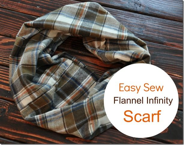 Easy Sew Flannel Infinity Scarf  Great for Fall!