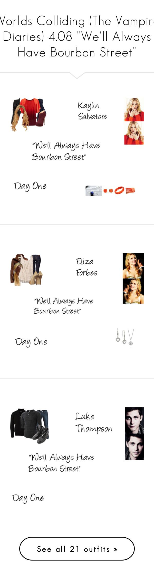 """""""Worlds Colliding (The Vampire Diaries) 4.08 """"We'll Always Have Bourbon Street"""""""" by mysticfalls1997 ❤ liked on Polyvore featuring Marc Jacobs, M.i.h Jeans, Coast, Giuseppe Zanotti, Kate Spade, Mark Davis, BCBGeneration, Monday, Levi's and Danier"""