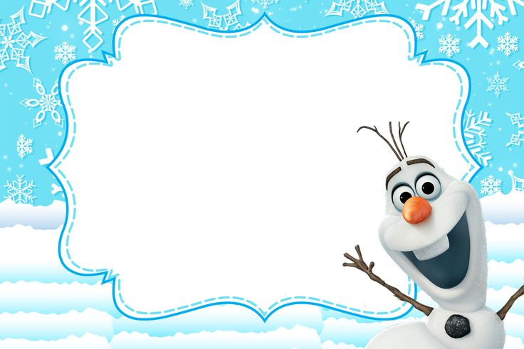 Convite Frozen Olaf fundo azul