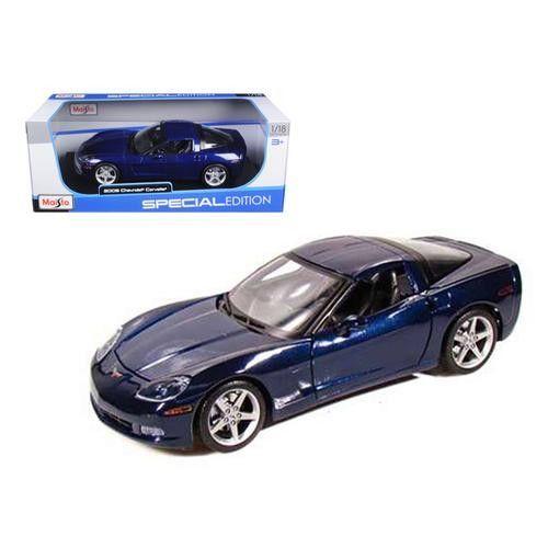2005 Chevrolet Corvette C6 Coupe Blue 1/18 Diecast Model Car by Maisto