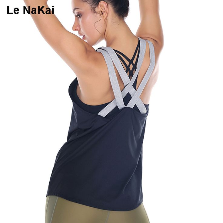 Bandge Cross Back Yoga Top Women Fitness Sports Shirt Loose Blouse Dance Top Gym Sports Vest Sleeveless Workout Tank Tops ** AliExpress Affiliate's buyable pin. Detailed information can be found on www.aliexpress.com by clicking on the image #Yogawears