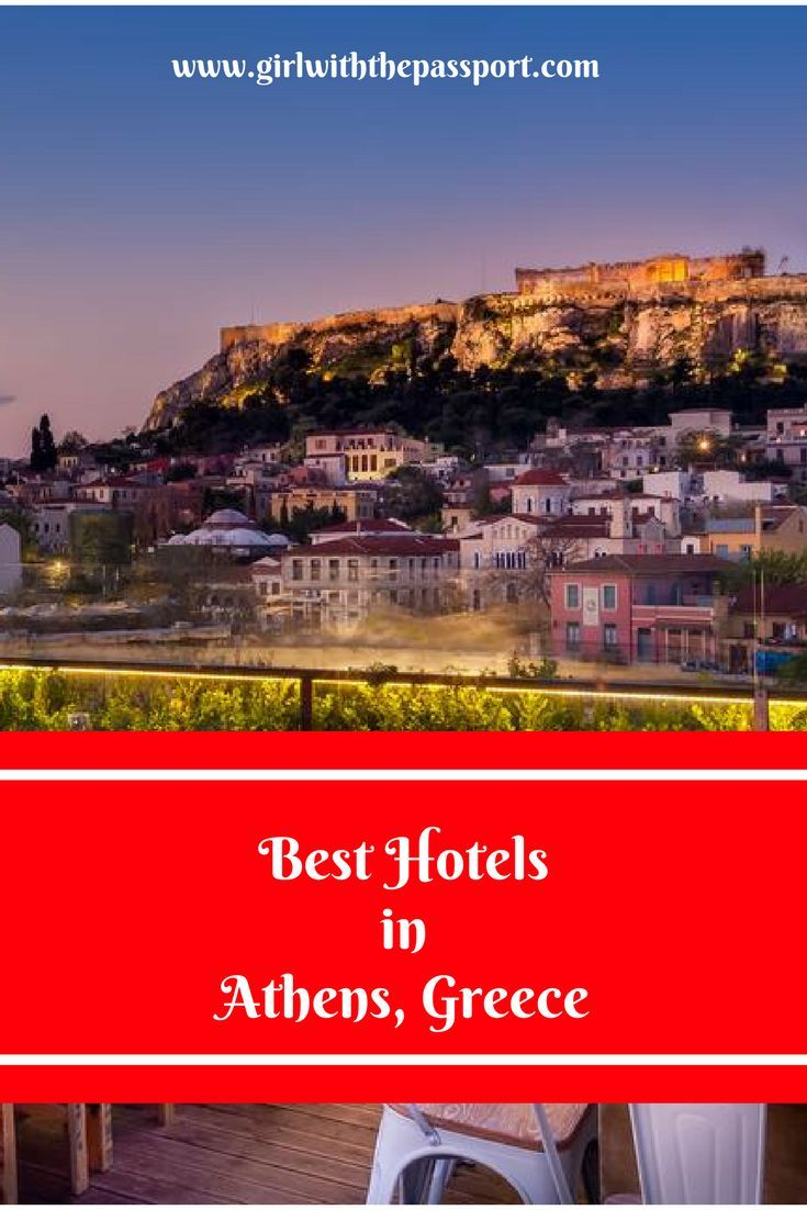 Where to stay In Athens, Greece and a list of some of the best hotels and hostels in Athens, Greece.