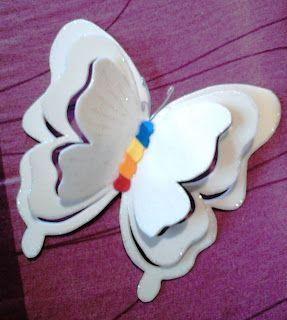 ஐ* Kelli Falcão Artesanatos Personalizados em EVA*ஐ : Borboletas vasadas.