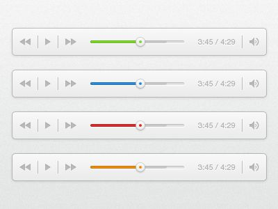 A simple little audio player with different colours, very minimal with no real purpose behind it. PSD is available also - enjoy, via: http://drbl.in/edXd