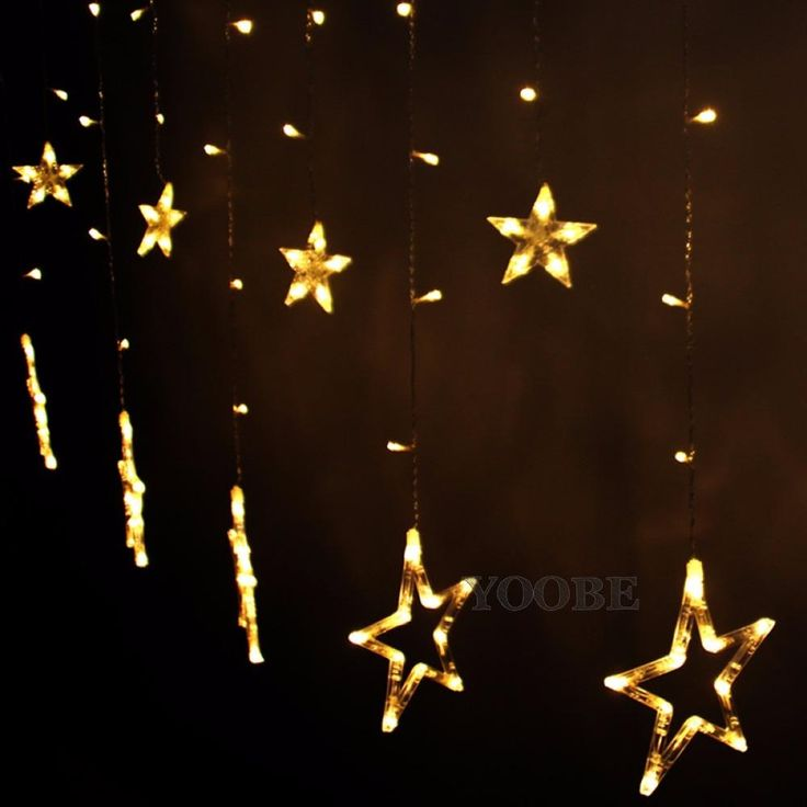 LED Star Lights | Perfect For Princess Canopy Tent Castle | Large & Small Stars