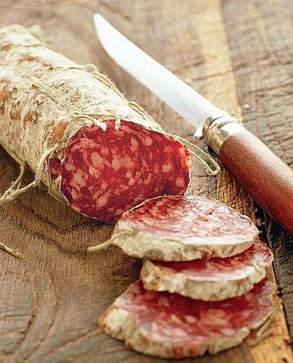 Salame Brianza  - italian food