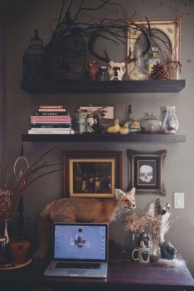 eclectic and eccentric decor                                                                                                                                                                                 More