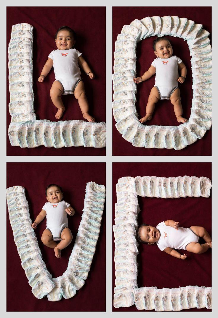 Love Baby Diapers Photoshoot Newborn Smiles Huggies