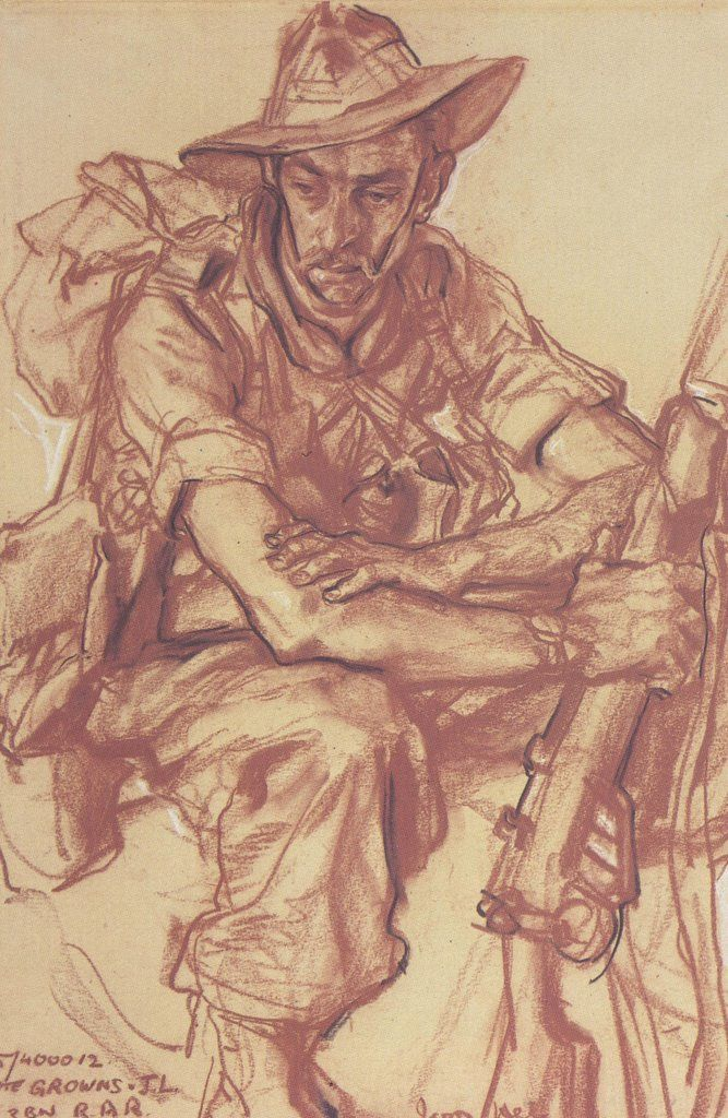 Ivor Hele - Australian War Artist. I would love to see his work in the Museum in Canberra. S