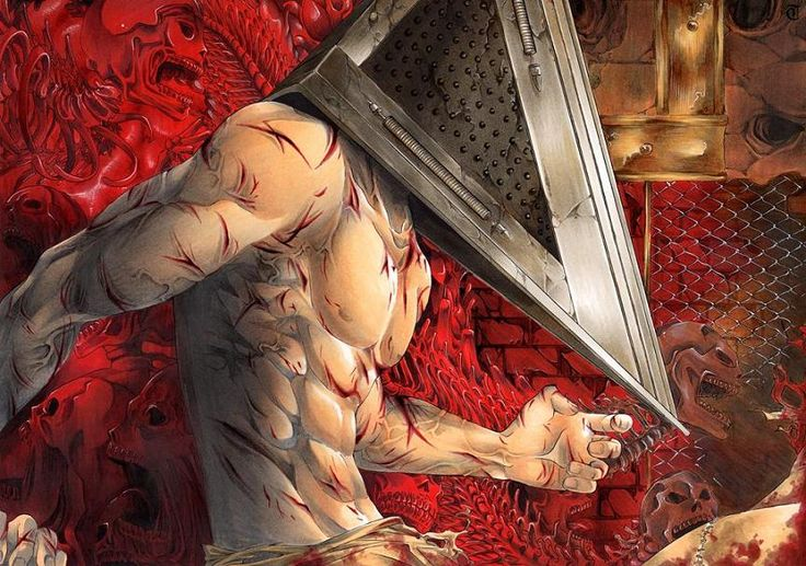 Pyramid Head. He's a little too sexy for my liking but it's still my favorite fanart of him.