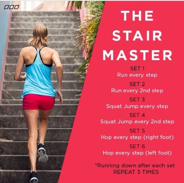 Stair workout @Alicia T Johnson this would be a fun one!!