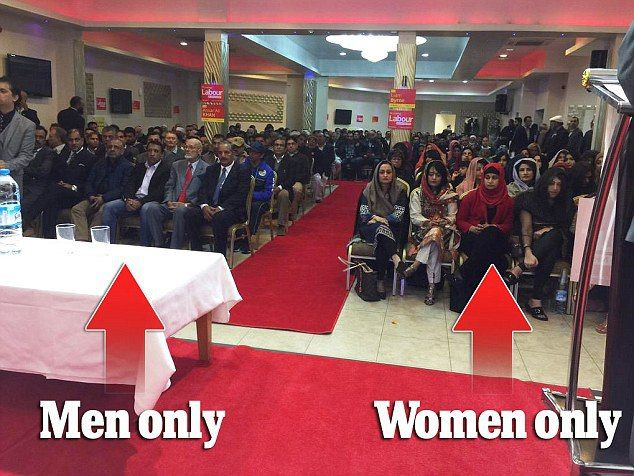 UK: Labour party enforces sharia, segregates men & women at political rally | Creeping Sharia