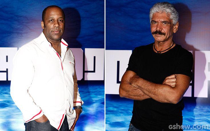 Ailton Graça e Jackson Antunes interpretam Lopes e Saulo, respectivamente. Cliques da festa de lançamento do seriado #OCaçador   TV Globo