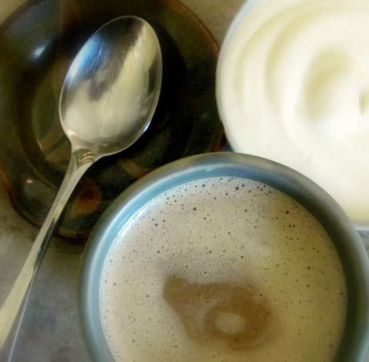 """Non-dairy creamer: """"I just dumped a can of coconut milk into the food processor, added one egg and 2 tablespoons of coconut oil.  And since I was thinking """"eggnog"""", I added a teaspoon of vanilla."""""""