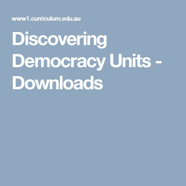 Discovering Democracy Units - Downloads
