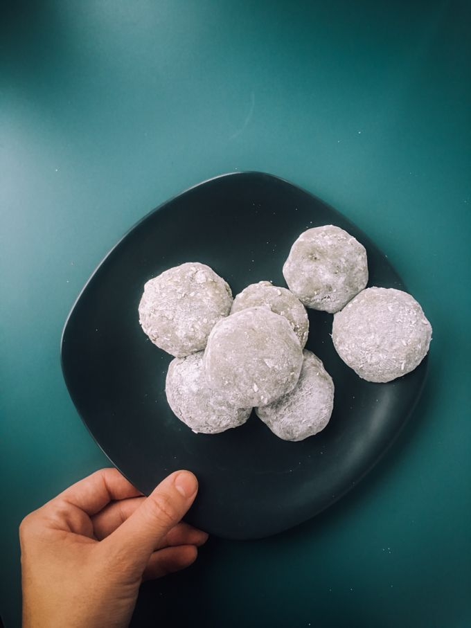 Coconut Green Tea Mochi (Matcha Daifuku) - an easy microwave mochi recipe that is so cheap and simple to make.