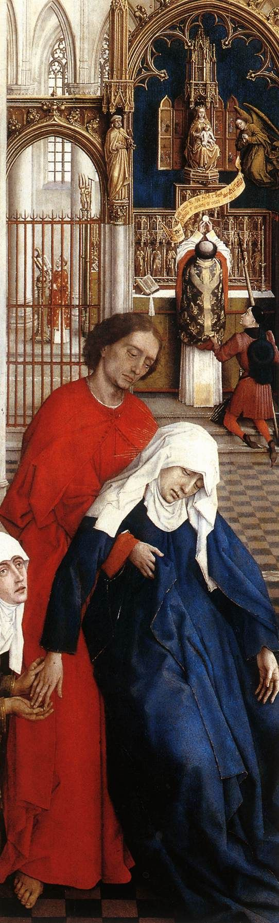 Rogier van der Weyden. Seven Sacraments Altarpiece (detail); 1445-50. Oil on oak panel. Koninklijk Museum voor Schone Kunsten, Antwerp