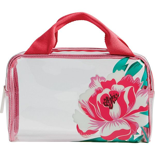 Vera Bradley Beach Cosmetic - Oxford Floral - Cosmetic Bags (46 CAD) ❤ liked on Polyvore featuring beauty products, beauty accessories, bags & cases, pink, wash bag, toiletry kits, travel toiletry case, dop kit and toiletry bag