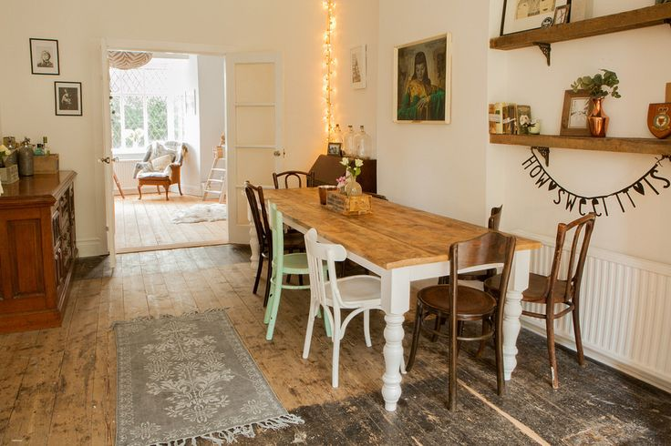Dining room with vintage accents and mementos