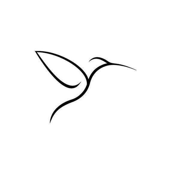 Resultado de imagen para colibri dibujo lineal