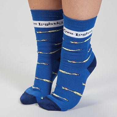 Rubber Chicken Socks HCL exclusive! Give people something to cluck about when you strut through your day wearing our fun mascot socks! Fits men's shoe size 5-10 and women's shoe size 6-11. Made of acrylic, stretch nylon and spandex.