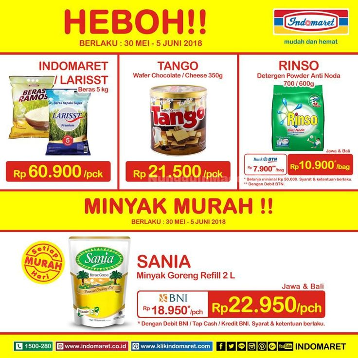 Promosi Indomaret Harga Heboh 14 20 November 2018