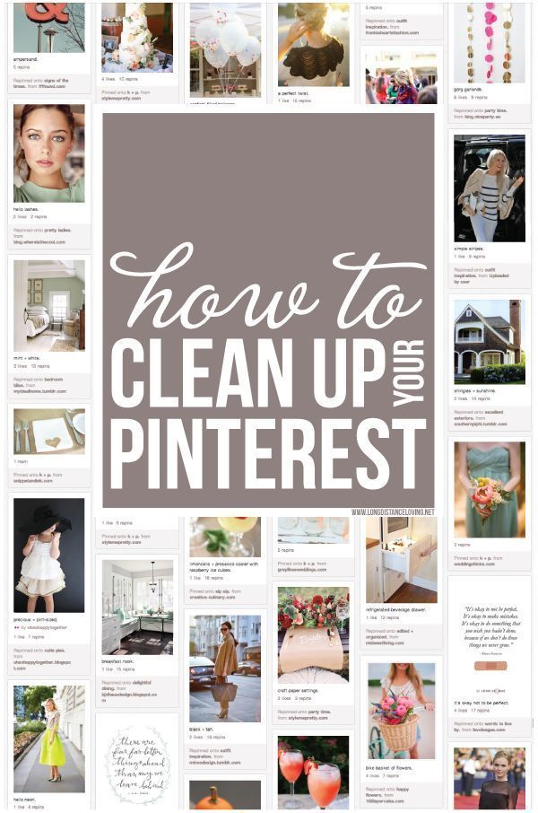 This is SO important! How to clean up your Pinterest boards