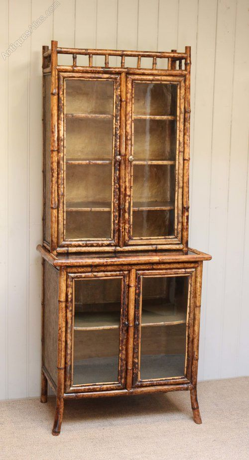 Bamboo Cabinet Bookcase   Antiques Atlas
