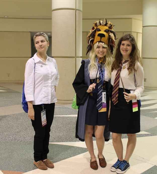 36 delightfully geeky cosplays from leakycon draco malfoy hermione granger and luna lovegood - Luna lovegood and hermione granger ...