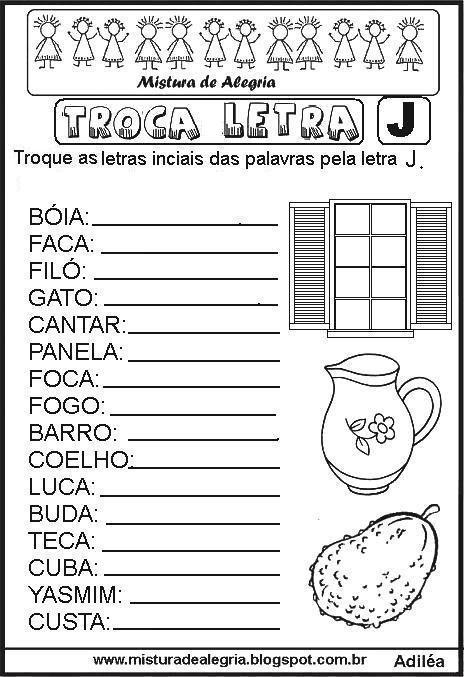 atividade-alfabetiza%C3%A7%C3%A3o-troca-letra-imprimir-colorir-j.JPG (464×677)