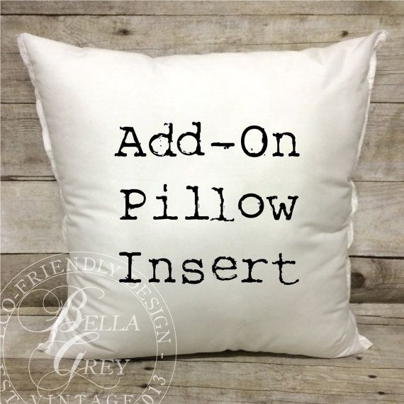 Pillow Form Insert for Burlap Pillow Covers by BellaGreyVintage