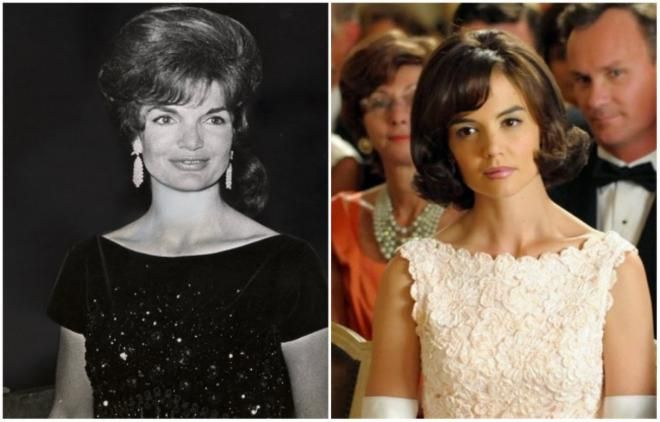 <p>Jacqueline Kennedy από την κατά τα άλλα όχι πολύ ταλαντούχα Katie Holmes<br /> «The Kennedys» 2011</p>