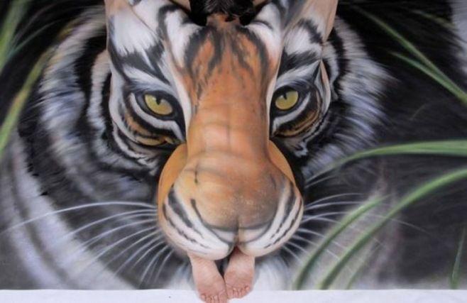 Dünyanın En Şaşırtıcı Vücut Boyama Sanatı Eserleri - Yakından bakın, bu görüntüler göründüğü gibi değildir!