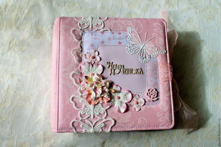 """Купить Альбом """"Наша доченька"""" на первый год жизни - розовый, альбом ручной работы, альбом для фото"""